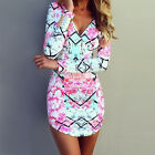 Summer Women Sexy Evening Cocktail Party Beach Casual Mini Floral Short Dress