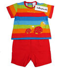 "TUTTO PICCOLO ""Tortilla Summer Sommer"" shorts+t-shirt completo (rosso) NUOVE"