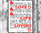 Robbie Williams Angels Canvas Song Lyric Wall Art Print  Typography Designs