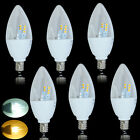 US 6pack E12 5W LED Candle Lamp Light 15SMD Cool Warm Whtie Candelabra Spotlight