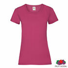 FRUIT OF THE LOOM LADIES Plain Lady Fit T-Shirts Tee T Shirt   ALL SIZES XS-2XL