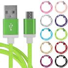 1M 3ft Braided Aluminum Micro USB Data & Sync Charger Cable Cord For Cell Phones
