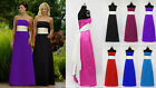 Maxi Long sash wedding party prom bridesmaid evening full dress gown ballgown