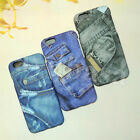 Cool Jean Plastic Hard Daul Back Case& Front Cover For iPhone 6/6S & 6/6S Plus
