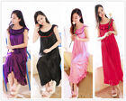 Women's Pure Color Nightdress Sleepwear Nightwear Sleepshirt Long Loose Dress