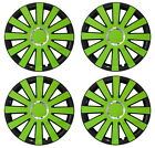 "4x14"" Wheel trims wheel covers for Honda  -  full set 14 '' black - green"