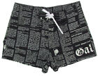 "JOHN GALLIANO ""Newspaper 1OA"" oumo costume mare bermuda shorts (nero) NUOVE"