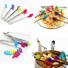 Silicone Palm Shape Stainless Steel Ice/Sugar Cube Snacks BBQ Baking Food Tongs