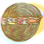"7/8"" Kansas City Chiefs Mini Text Grosgrain Ribbon by the Yard (USA SELLER!) $4.85 USD on eBay"