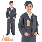 Child Evacuee Boy Costume World War 2 1940s Book Week Day Fancy Dress Outfit New