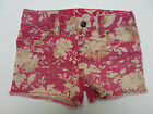 Girls shorts floral frayed ex designer age  3 4 5 6 7 8 9 10 11 12 13 14 years