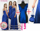 Shawl dolly bag Maxi sequins beads party prom bridesmaid ball evening dress gown