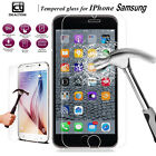 Wholesale 2X 5X 10X Real Tempered Glass Screen Protector Film For iPhone Samsung