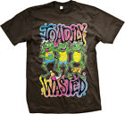 Toadily Wasted Funny Stoner Pothead Marijuana Weed Sayings Mens T-shirt