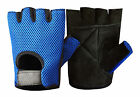 MESH LEATHER GYM GLOVES WEIGHT TRAINING FITNESS POWER LIFTING CYCLING WHEELCHAIR