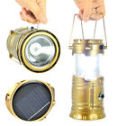 Outdoor Dual-use Solar Rechargeable Portable Lantern 6+1 LED Camping Flashlight