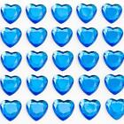 50 10MM ROYAL BLUE SELF-ADHESIVE HEARTS