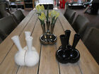 Set of 3 Vases in 3 Different Colours 3 Interlocking Vases Black Silver or White