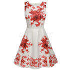 New Korean Summer Women Mini Dress Sleeveless Vintage Bodycon Club Party Floral