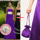 Dolly bag Maxi Long sash belt party prom bridesmaid ballgown evening dress gown