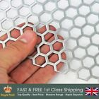 11mm Hole-14mm Pitch-1mm Thickness - Hexagonal Perforated  Mesh - Mild Steel