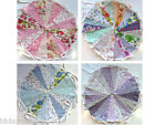 Fabric handmade Bunting shabby & chic heart garland pink vintage cream floral