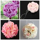 """1"""" 10"""" Kissing Pomander Flower Ball With Crystal Pendant Wedding Party Supplies"""