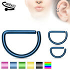 D Shaped Tragus Helix Cartilage Nose Top Ear Piercing Bar Ring 16ga 1.2mm