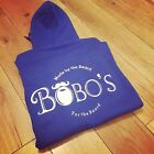 BOBOS BEARD COMPANY BLUE HOODIE TRACKSUIT TOPS JUMPERS ALL SIZES SMALL - XXXL