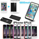6800mAh External Battery Backup Charger Case Cover Pack Power for iPhone 6Plus