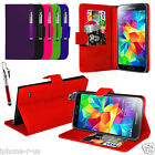 FLIP WALLET STAND LEATHER CASE COVER For Samsung Galaxy S5 Mini