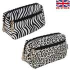 Ladies Womens Large Makeup Bag Toiletry Pouch Cosmetic Case Animal Print Leopard