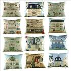 House and Garden cushions, by Sally Swannell, House, Dresser, Aga, Garden