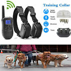 300M Electric 2 Dogs Remote Control Training Collar Anti-Bark Rechargeable LCD