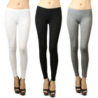IUILE Womens Basic Solid Cotton Stretch French Terry Leggings Pants