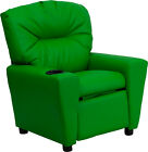 Flash Furniture Contemporary Vinyl Child's Recliner with Cup Holder