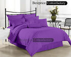 OFFER PURPLE 100% COTTON 1000TC HIGH QUALITY 4PC SHEET SET STRIPED ALL SIZE