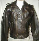 Bigfoot Classic Retro Brown Premium  Leather Motorcycle Jacket Sizes Retail $239