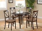 BOST5-CAP 5 Piece Small Kitchen Table Set-round Table and 4 Dining Chairs