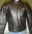 Mens NEW Retro Brown Top Cowhide Leather Vented Motorcycle Biker Jacket Sizes