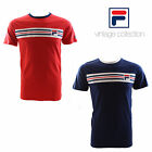 Fila Vintage Vandorno Short Sleeve Cotton T-Shirt Chinese Red Size Small RRP £30