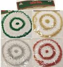 "6 CHRISTMAS HOUSE Cotton 6.5"" & 10"" Crochet Doiley White Gold Silver Red Green"