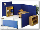 Free Standing Office Partition / Room Divider Privacy screens in Royal Blue