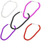 CLEARANCE Excellent Quality 40cm Glass Pearl Bead Necklace - Choose Colour