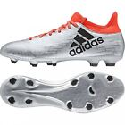 Adidas X 16.3 Firm Ground Cleats S79485 Silver/Core Black /Red SZ. 8-11