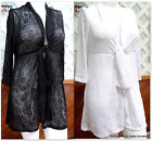 Catalina Womens Plus Size Tie-Front Tunic Swim Cover-Up 1X-2X-3X White or Black