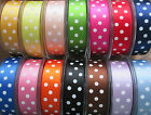 BERISFORDS POLKA DOT SATIN RIBBON SPOTTY RIBBONS BERESFORDS