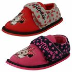 Minnie Mouse Girls Velcro Slippers