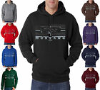 Ford Mustang Front Grill Logo Pony Racing 50/50 Pullover Hoodie S-3XL