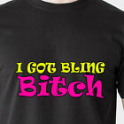 I GOT BLING BABY rap black white gold chains ring money cash retro Funny T-Shirt